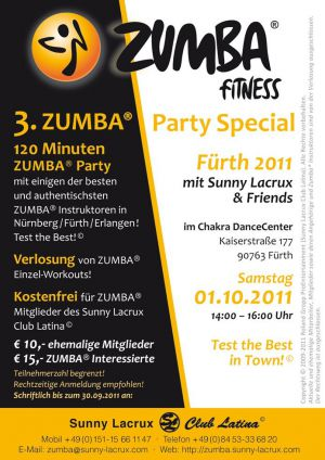 3. ZUMBA® Party Special Fürth 2011