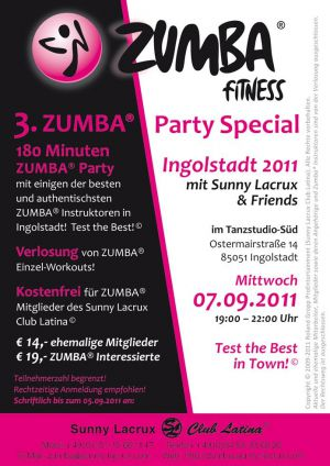 3. ZUMBA® Party Special Ingolstadt 2011
